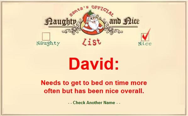 david naughty or nice pic